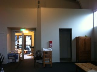 C3 Church Whitianga - Main Entry Lobby Doors & bathroom Access to Right.