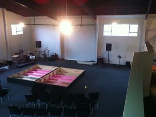 C3 Church Whitianga - New Stage Area Being Assembled.